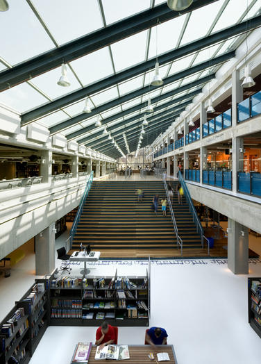 Media library, Delft  –  glass roof