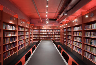 Media library, Delft  –  red room