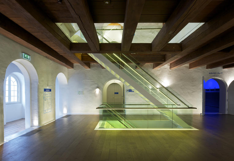 Maritime Museum, Amsterdam  –  new glass staircase