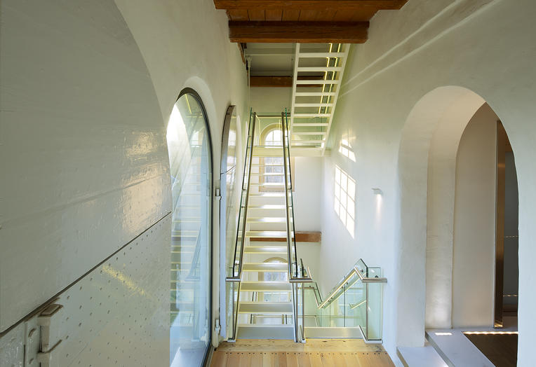 Maritime Museum, Amsterdam  –  Luminous and modern staircases in a characteristic building