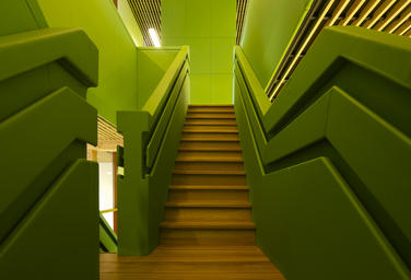 Community School The Frog, Amsterdam  –  Green staircase