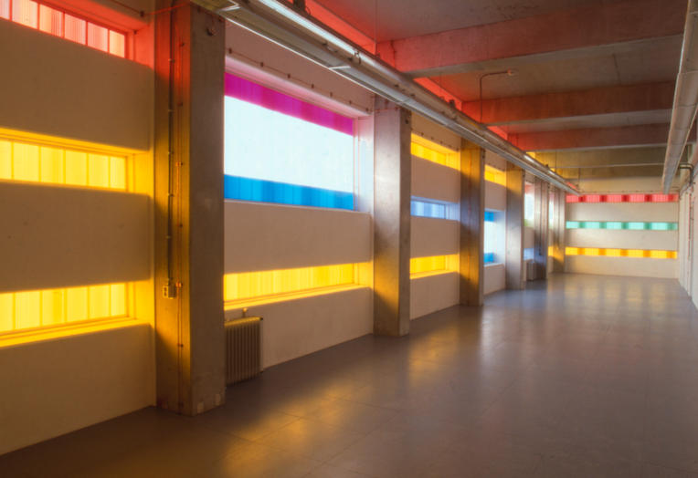 KPN Telecom, Amsterdam  –  narrow stripes of color and light